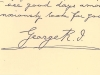 Letter from King George V