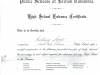 High School Entrance Certificate