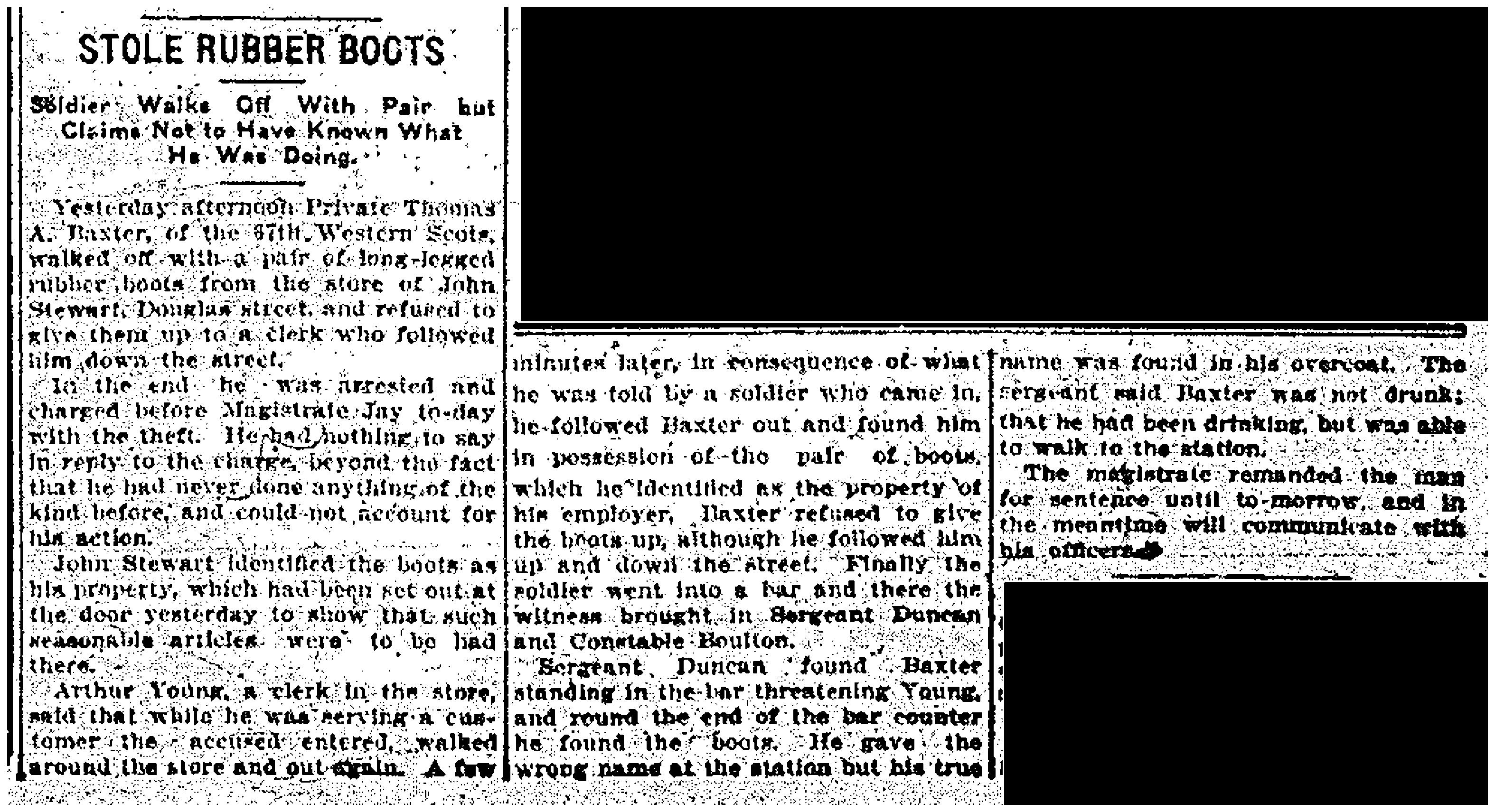 Soldier Steals Boots