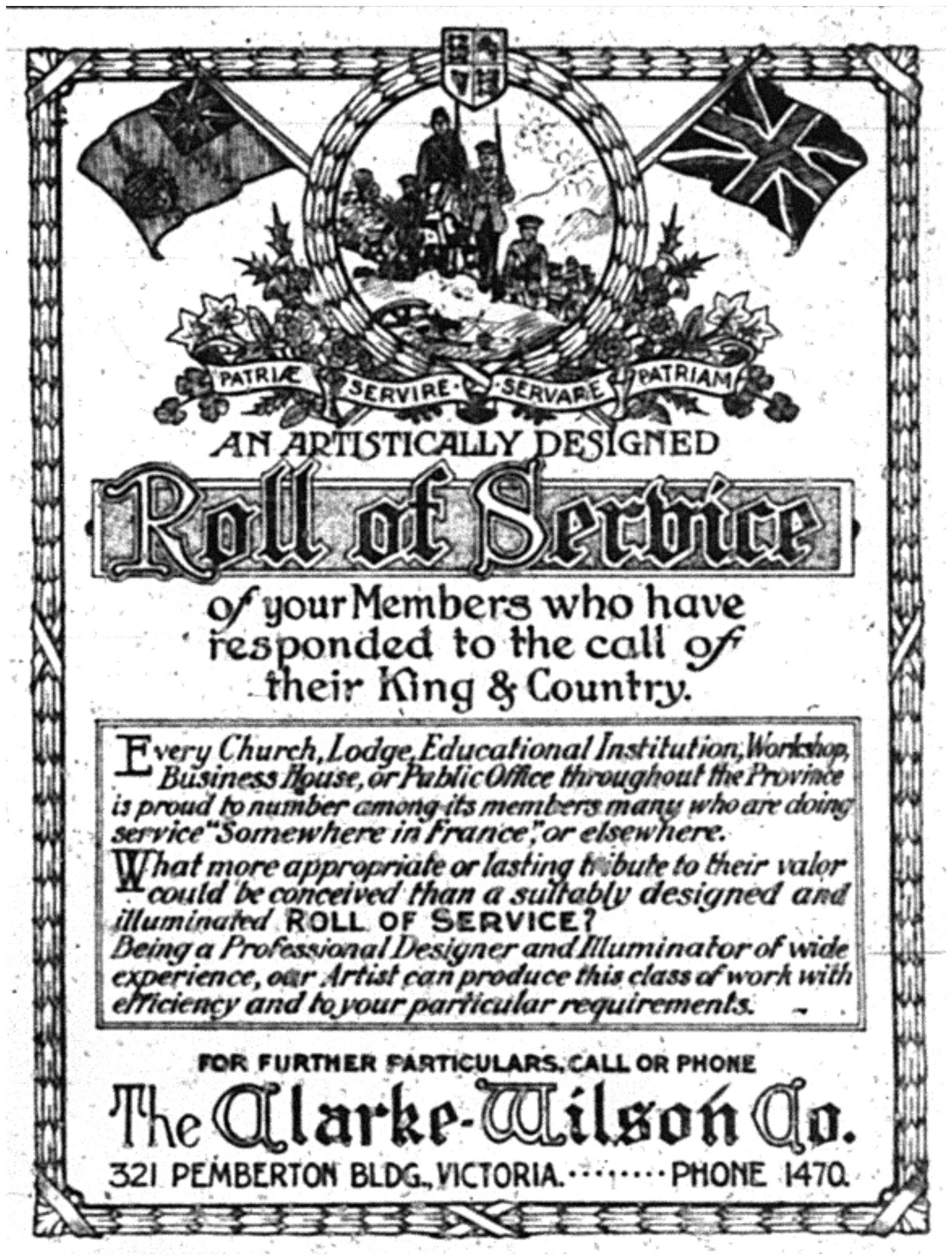 Roll of Service Ad