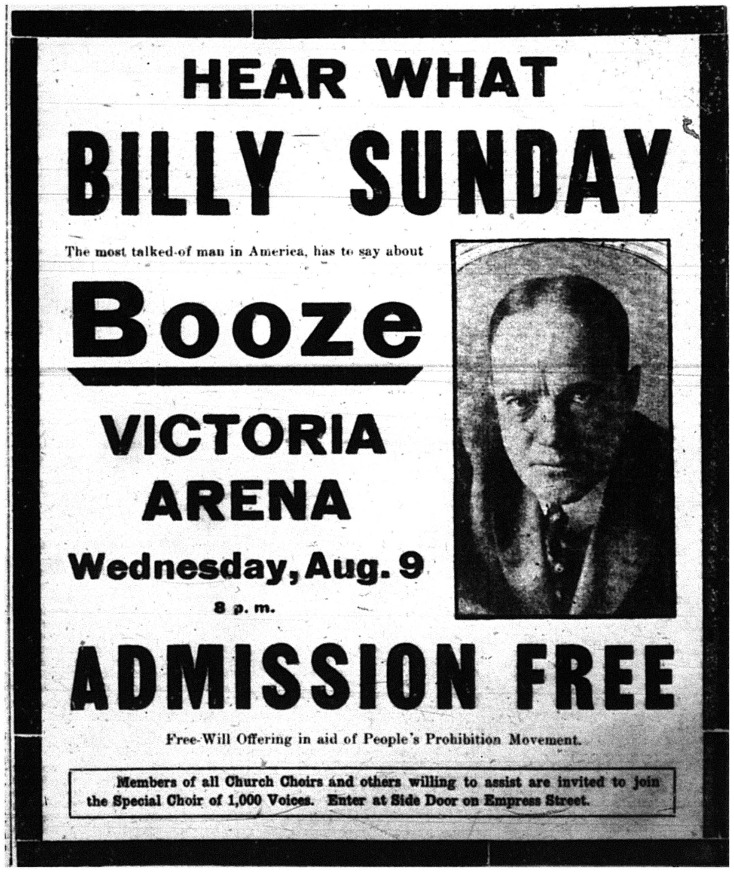 Billy Sunday on Booze