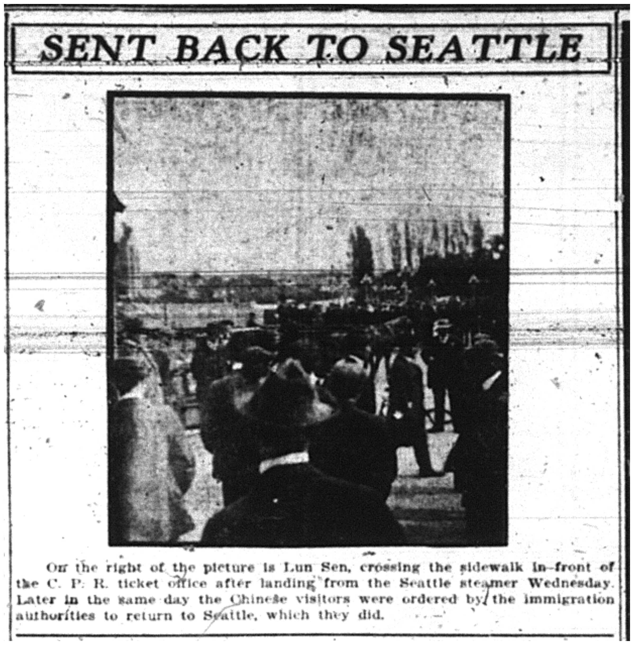 Chinese visitors sent back to Seattle