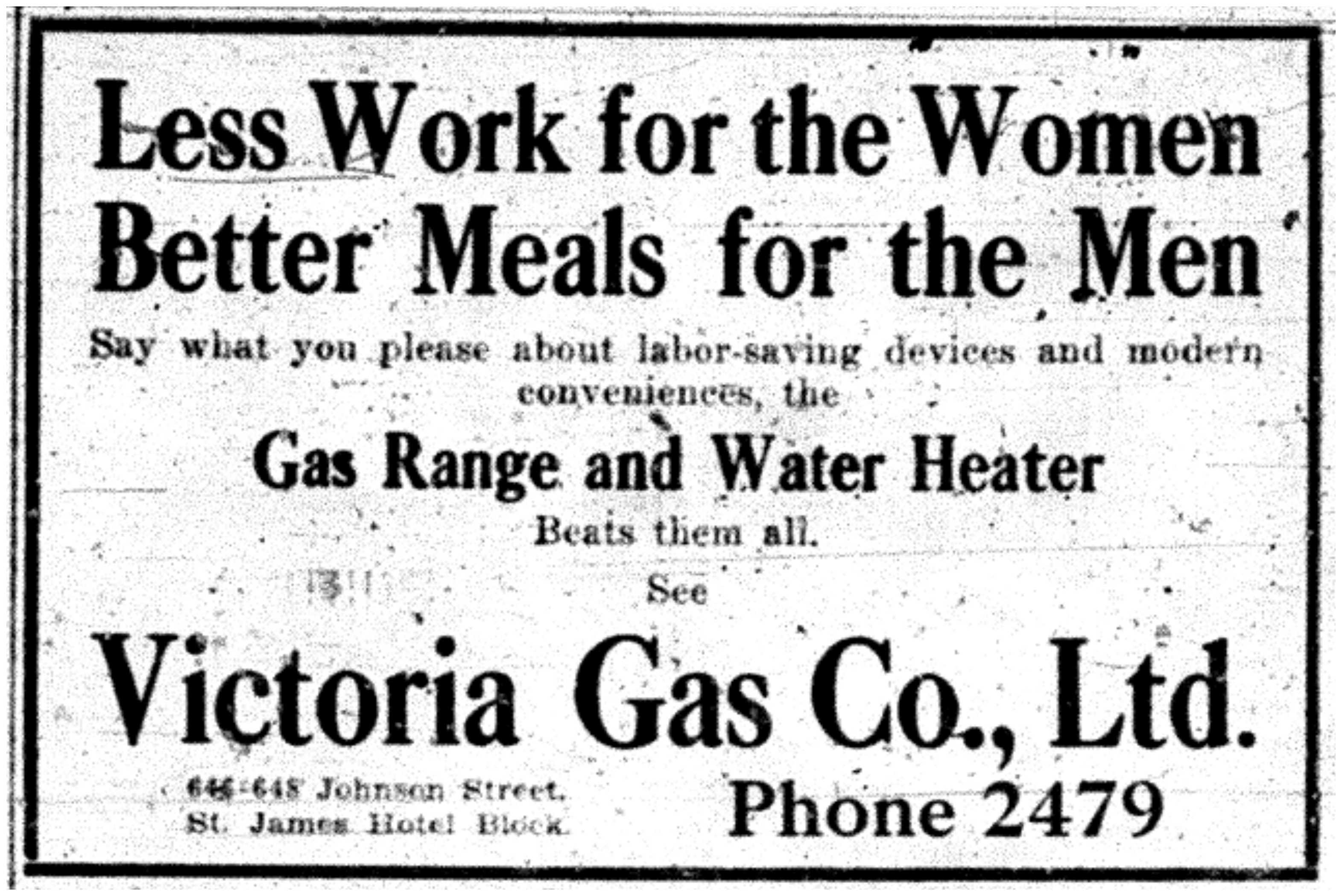 Victoria Gas Co. Ad