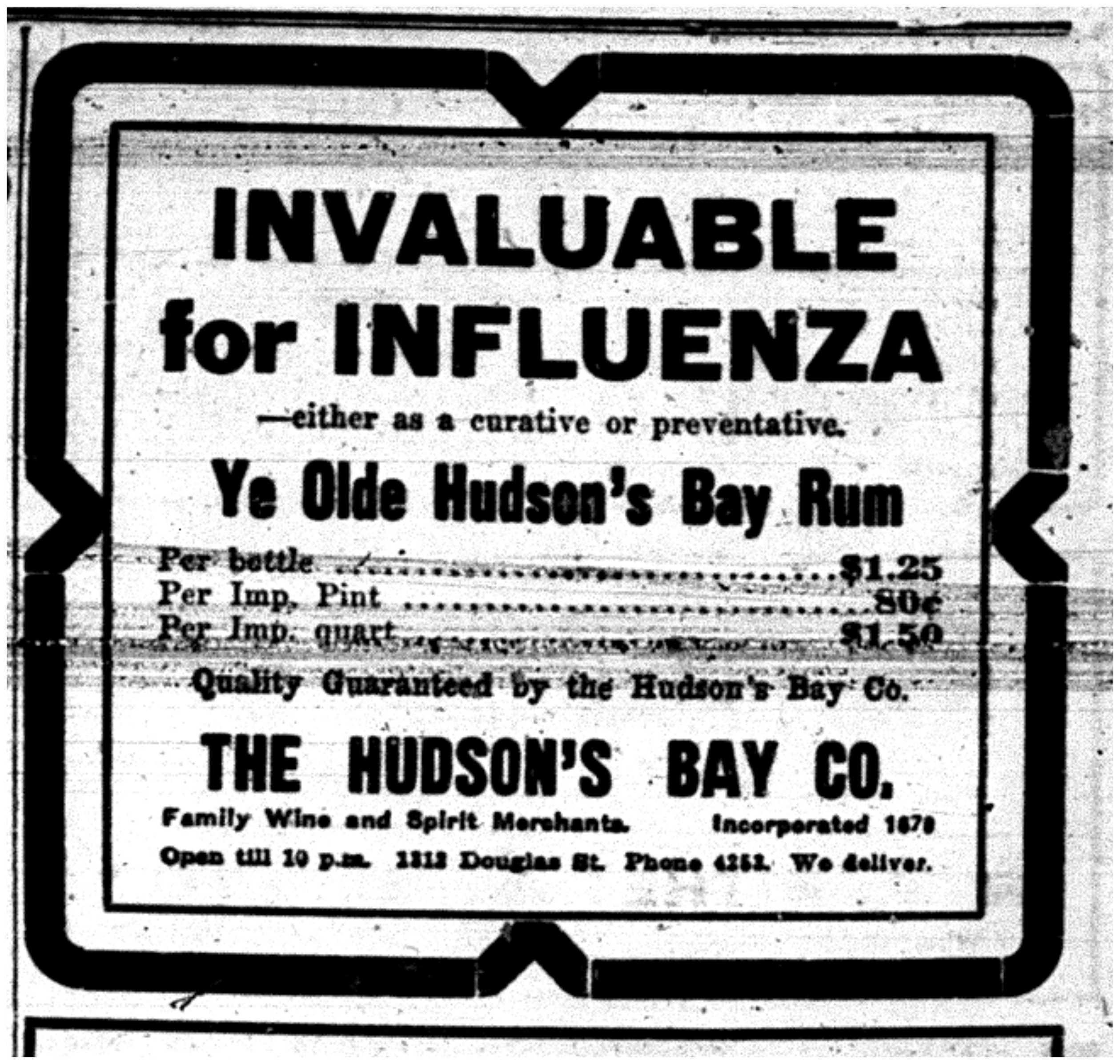 Hudson's Bay Rum Ad