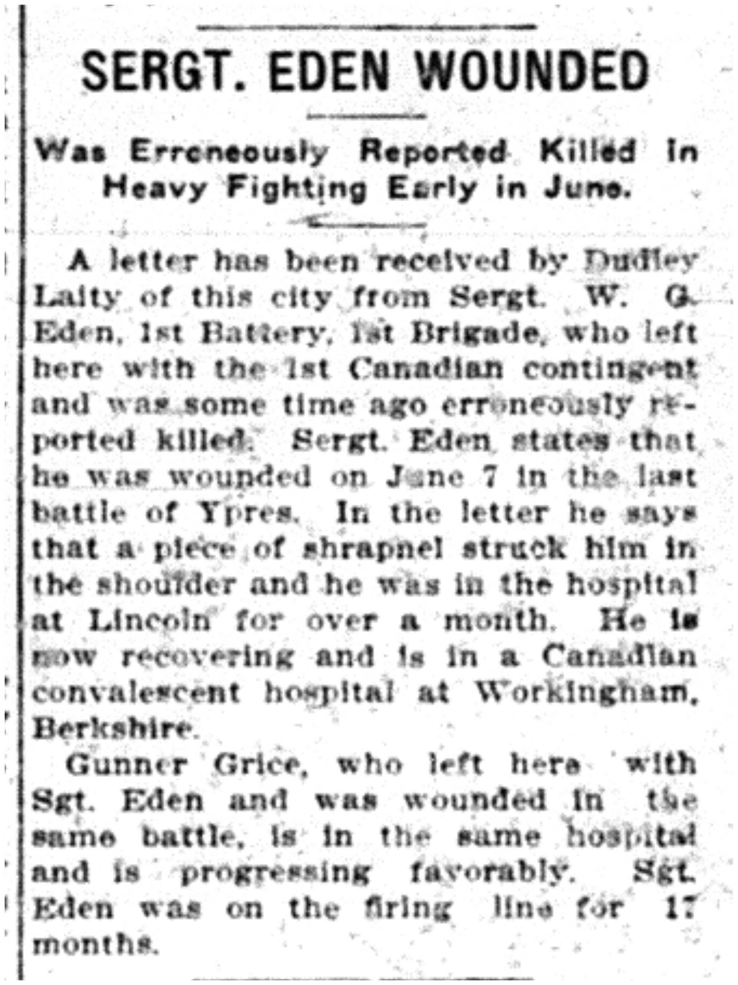 Eden Wounded