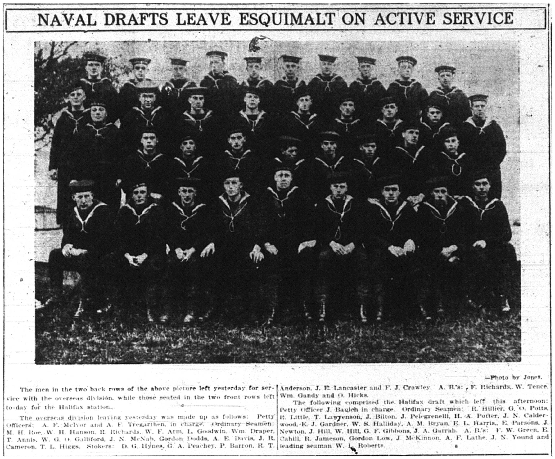 Naval Drafts Leaving
