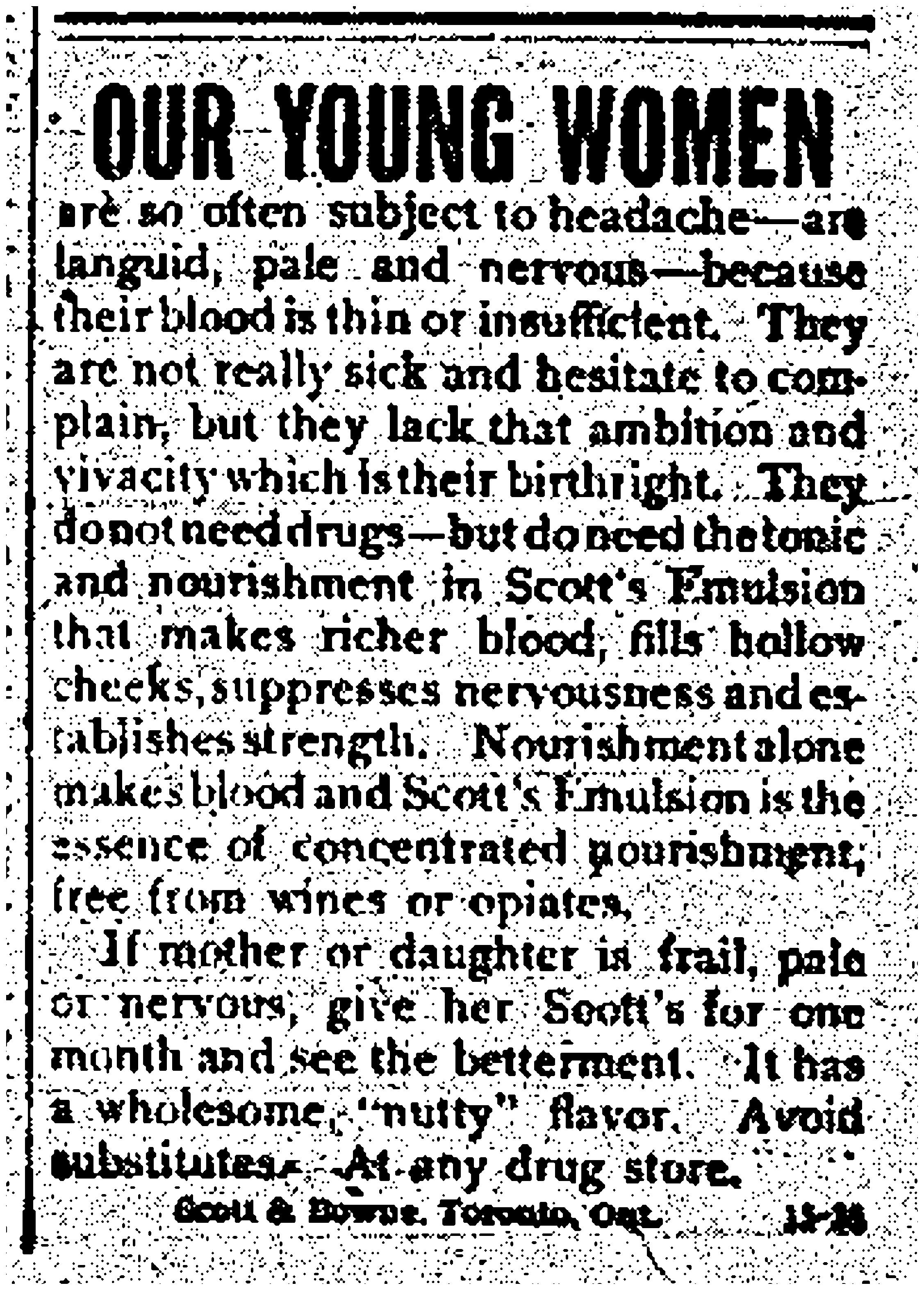 Scott's Emulsion Ad