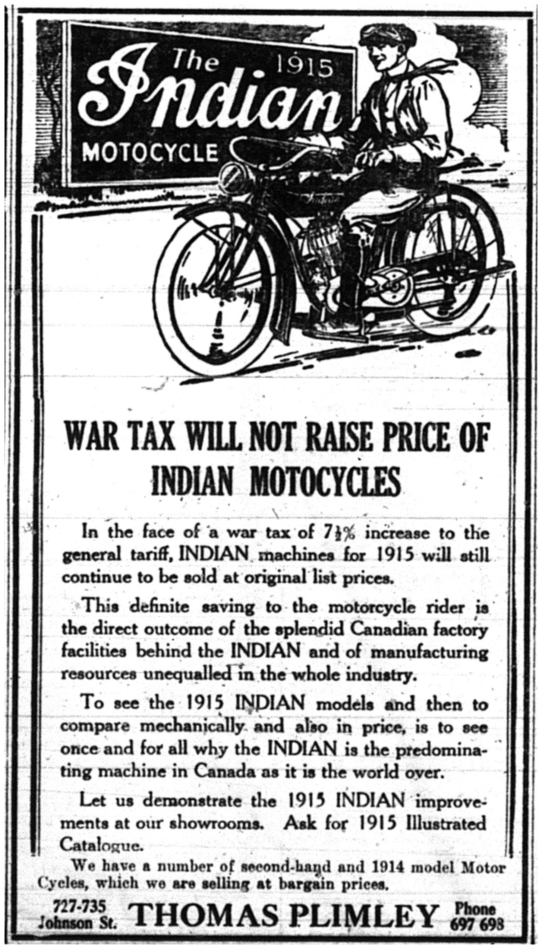 Indian Motorcycles War Ad