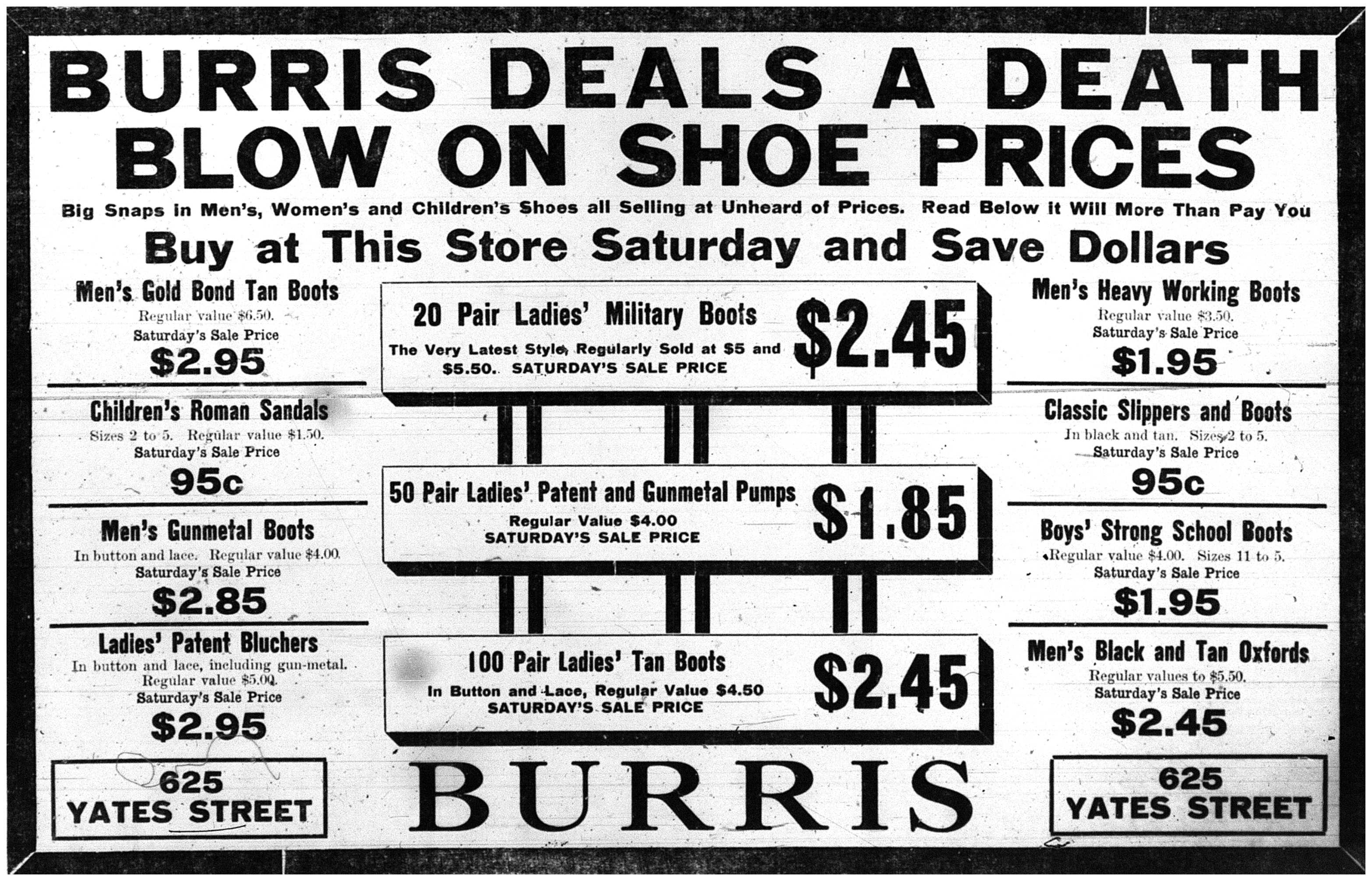Death Blow on Shoes, Ad