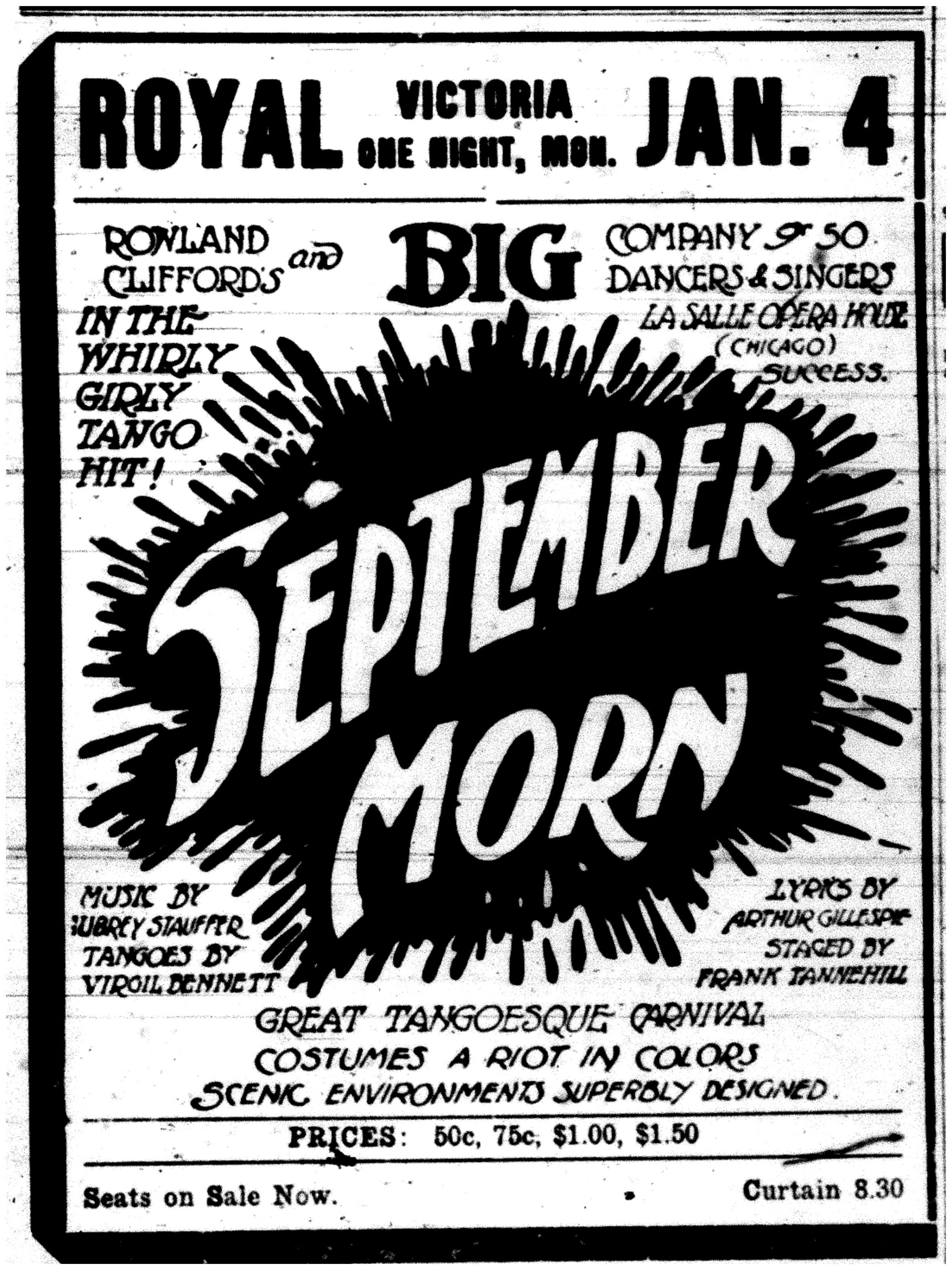 September Morn Ad