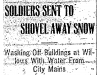 Soldiers Shovel Snow