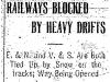 Railways Blocked by Snow
