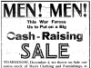 Cash Raising Sale, Ad