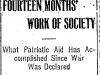 Patriotic Aid Society's Progress
