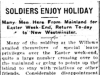 Soldiers Enjoy Holidays 1915