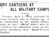 Dry Canteens 1915