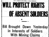 Protecting Rights of Absent Soldiers
