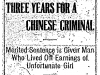 Sentence for Chinese Man