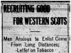 Western Scots Recruiting