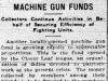 Machine Gun Fundraising Continues