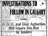 Investigations in Calgary Riot