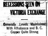 Recessions Seen in Victoria