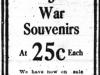 War Souvenirs Ad