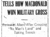MacDonald's Military Cross