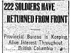 222 Soldiers Returned