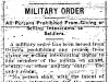 Military Order for Sale of Alcohol