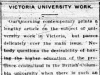 Victoria University Work