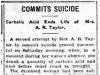 Taylor's Suicide