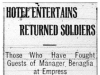 Returned Soldiers Entertained