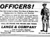 Officers Clothing Ad