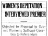 Women's Deputation and the Premier