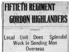 50th Gordon Highlanders