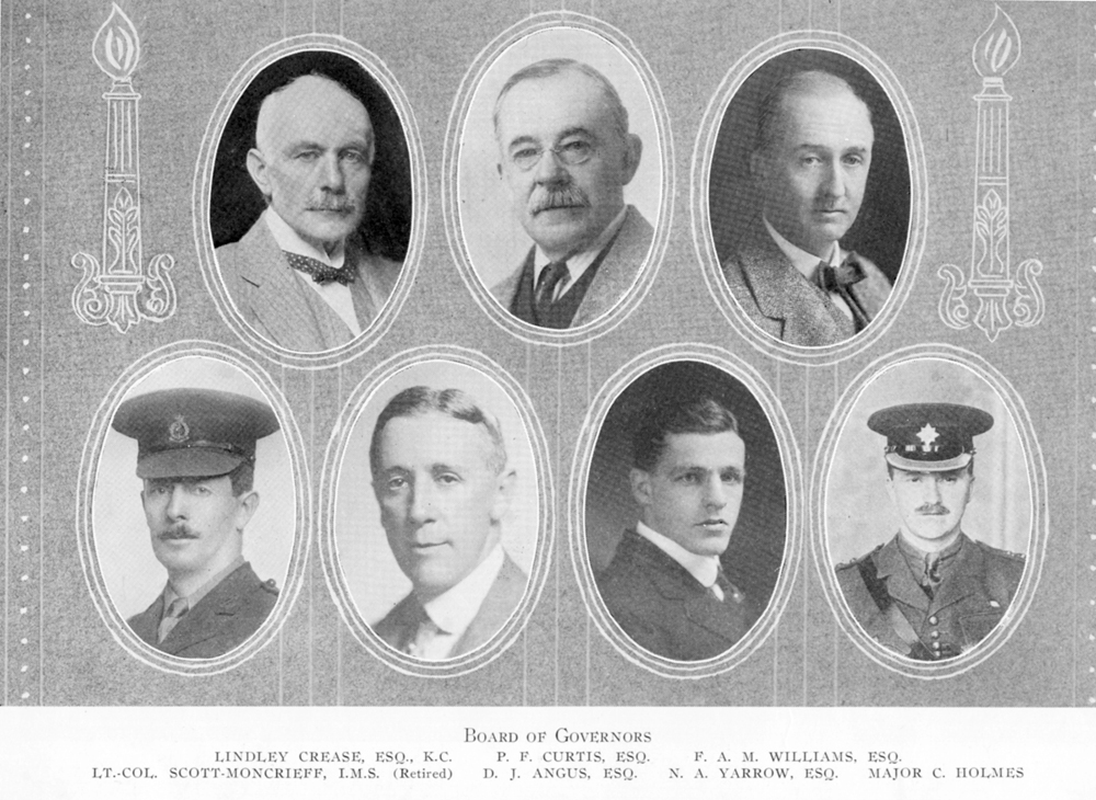 Brentwood College Board of Governors, 1923