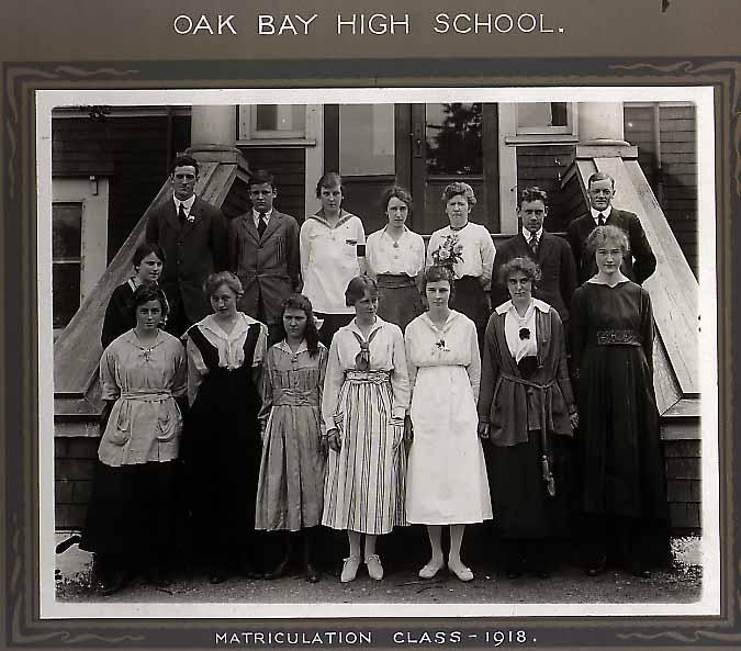 Oak Bay High School 1918 Matriculation Class