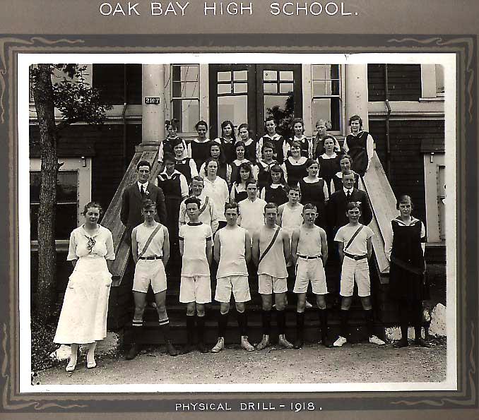 Physical Drill at Oak Bay High