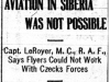 """Aviation in Siberia Was Not Possible"""