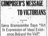 """Composer's Message to Victorians"""