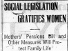 """Social Legislation Gratifies Women"""