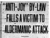 """Anti-Joy By-Law Falls A Victim To Aldermanic Attack"""