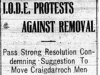 """I.O.D.E. Protests Against Removal"""