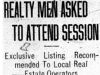 """Realty Men Asked To Attend Session"""
