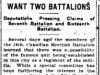 """""""Want Two Battalions"""""""