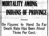 """""""Mortality Among Indians Of Province"""""""