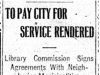 """To Pay City for Service Rendered"""