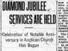 """Diamond Jubilee Services are Held: Celebration of Notable Anniversary in Anglican Church has Begun"""