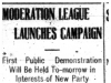 """Moderation League Launches Campaign"""